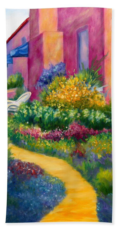Landscape Bath Towel featuring the painting Capitola Dreaming Too by Shannon Grissom
