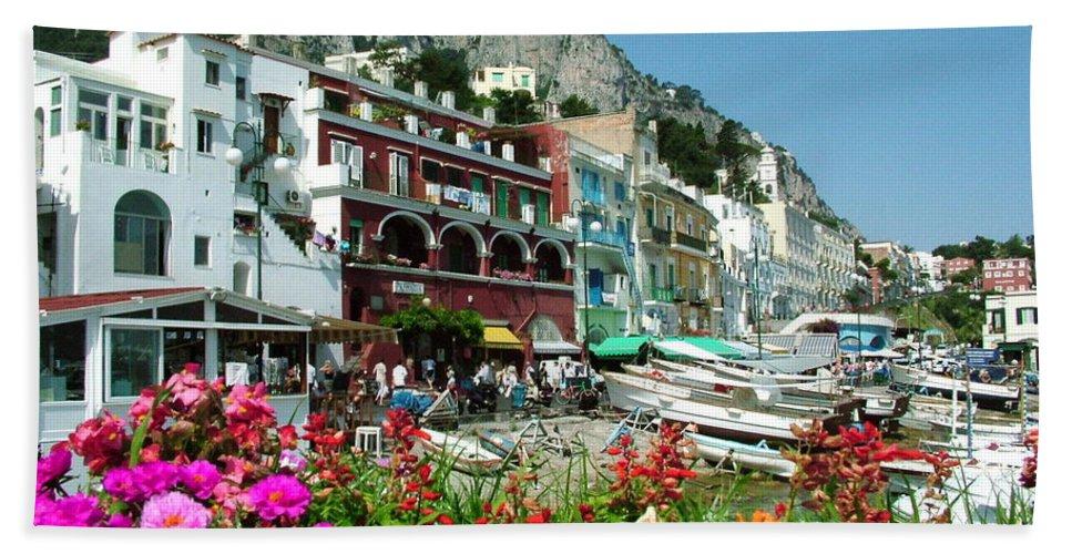 Capri Bath Sheet featuring the photograph Capri by Donna Corless