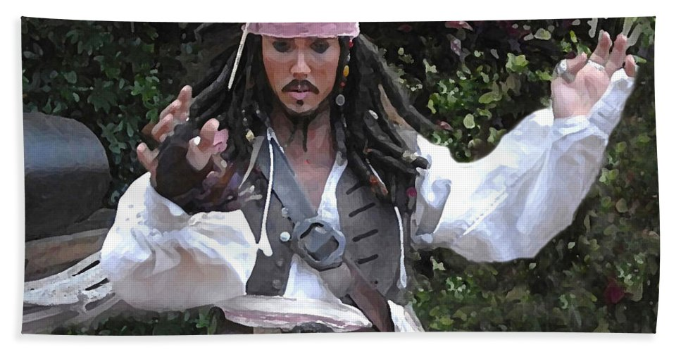 Captain Hand Towel featuring the photograph Captain Sparrow by David Lee Thompson