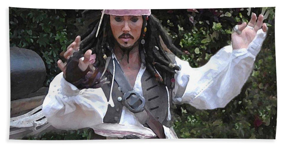 Captain Bath Sheet featuring the photograph Captain Sparrow by David Lee Thompson