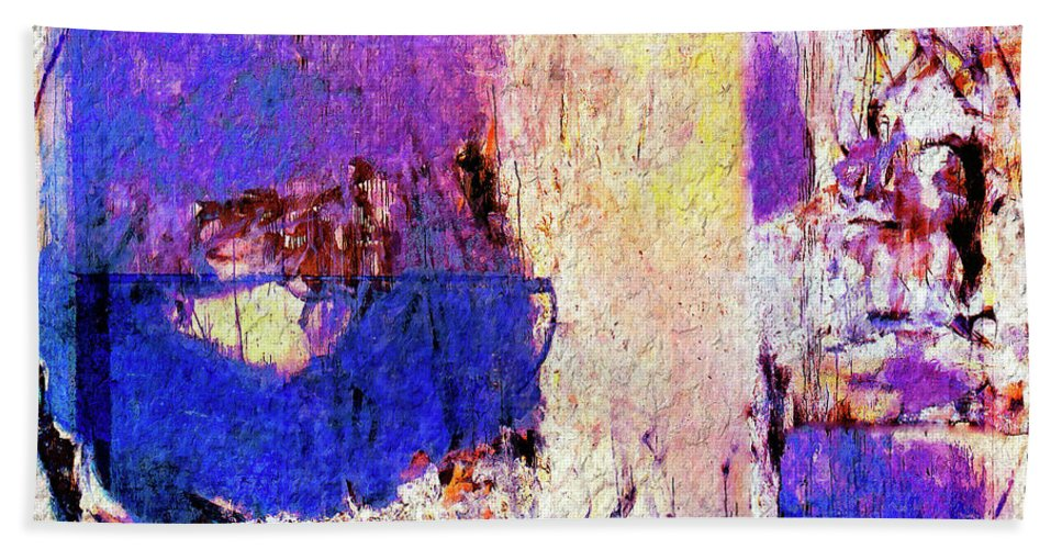 Abstract Hand Towel featuring the painting Captiva by Dominic Piperata