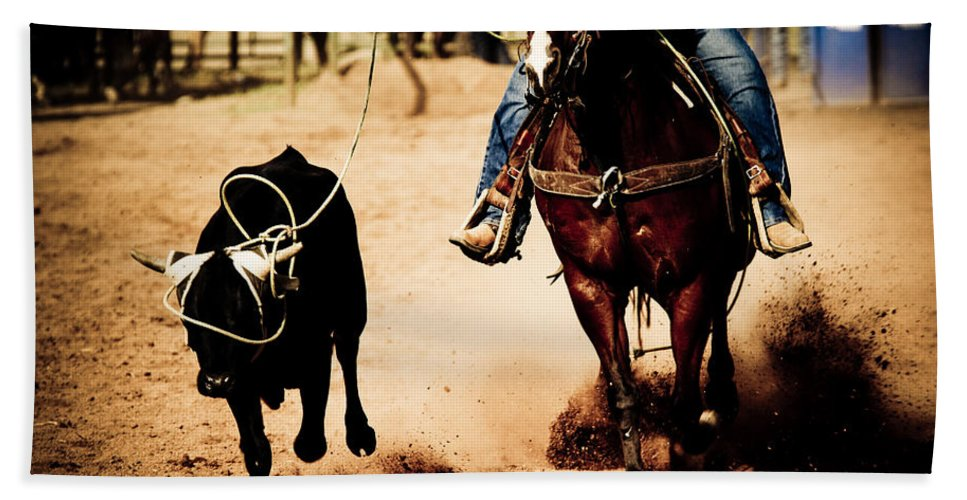 Western Hand Towel featuring the photograph Capture by Scott Sawyer