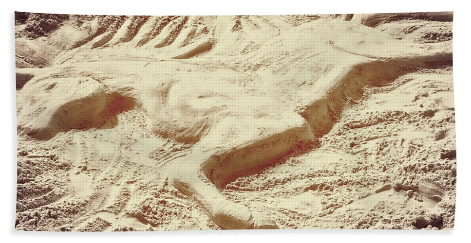 Horse Bath Sheet featuring the photograph Captured In The Sand Art by JAMART Photography