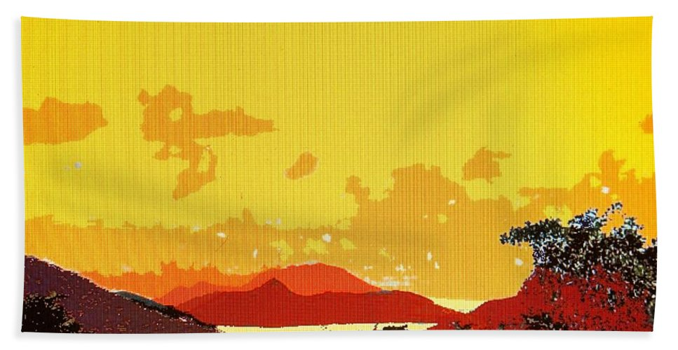 Caribbean Hand Towel featuring the photograph Caribbean Sky by Ian MacDonald