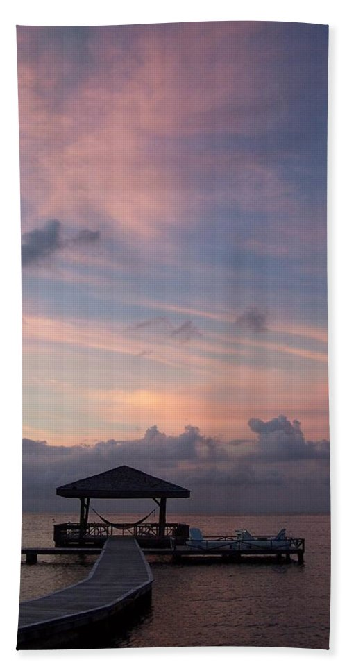 Ocean Hand Towel featuring the photograph Caribbean Sunrise by Gale Cochran-Smith