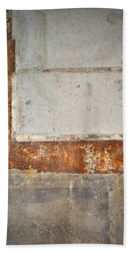 Architecture Hand Towel featuring the photograph Carlton 14 - Abstract Concrete Wall by Tim Nyberg