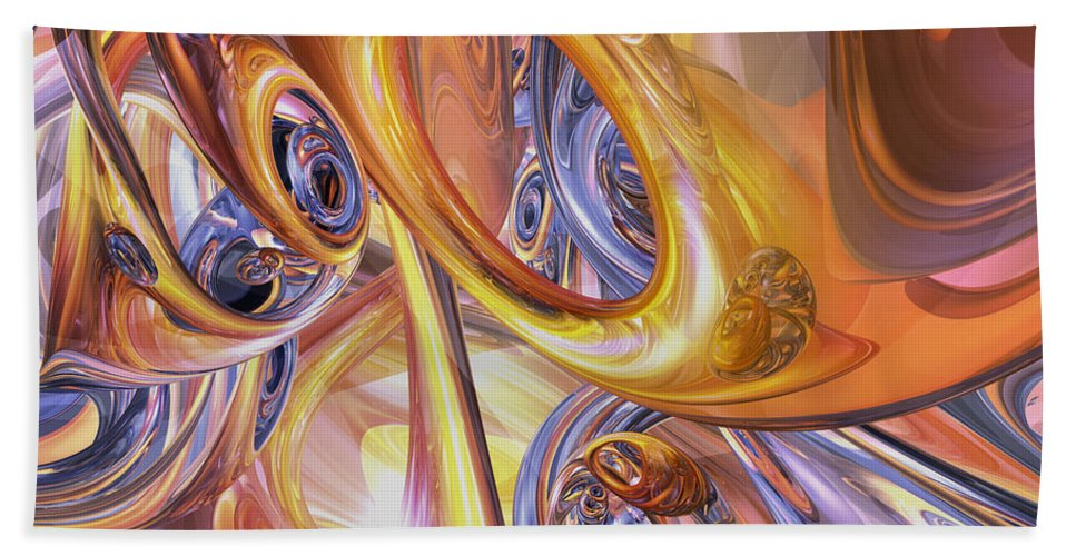 3d Hand Towel featuring the digital art Carnival Abstract by Alexander Butler