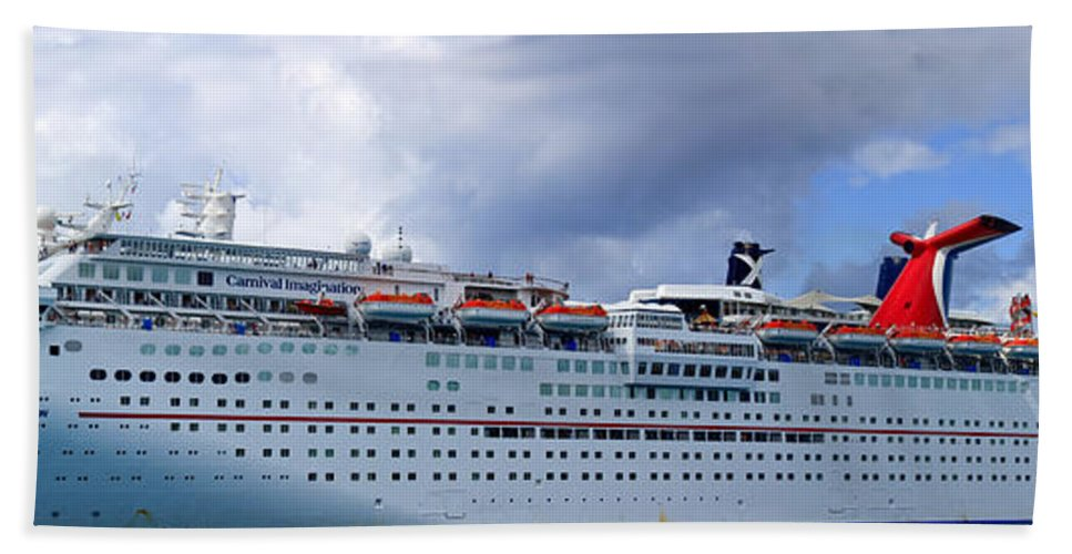 Carnival Bath Sheet featuring the photograph Carnival Cruise Ship by Thomas Marchessault