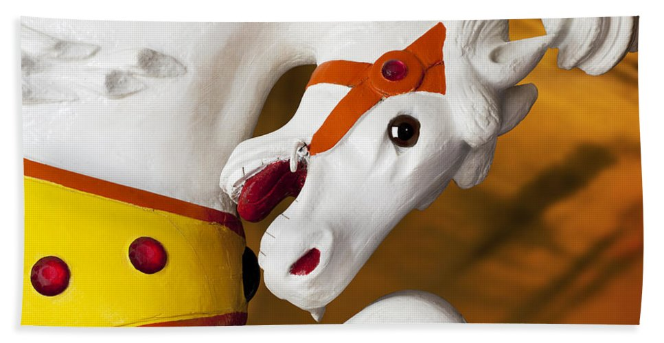 Carousel Bath Sheet featuring the photograph Carousel Horse 1 by Kelley King