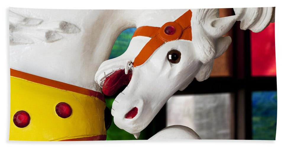 Carousel Bath Sheet featuring the photograph Carousel Horse 3 by Kelley King