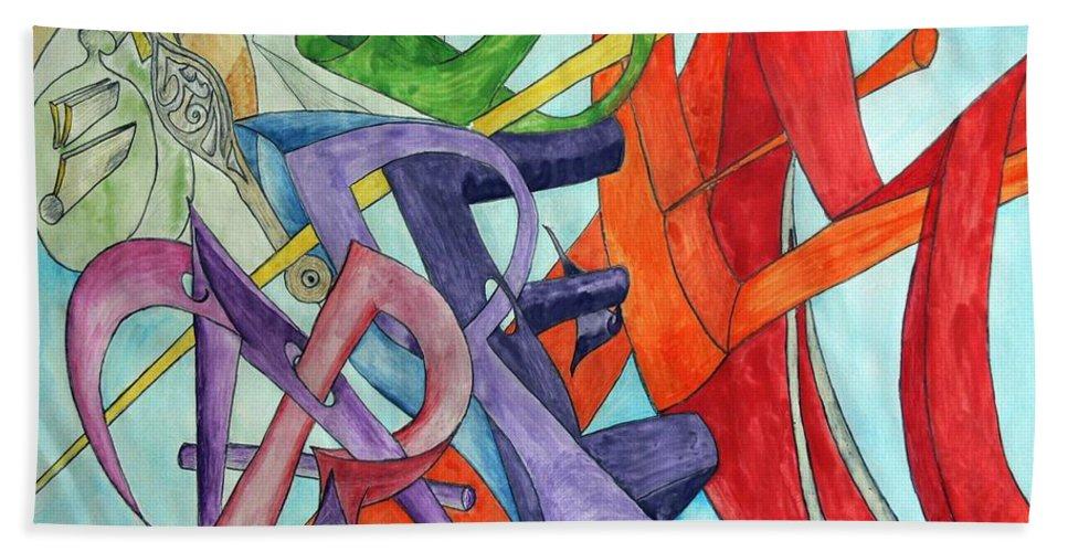 Carpe Diem Hand Towel featuring the painting Carpe Diem by Helmut Rottler