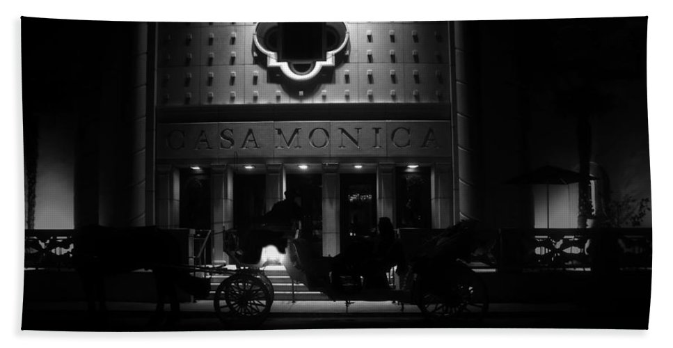 Carriage Bath Sheet featuring the photograph Carriage Ride At The Casa Monica by David Lee Thompson
