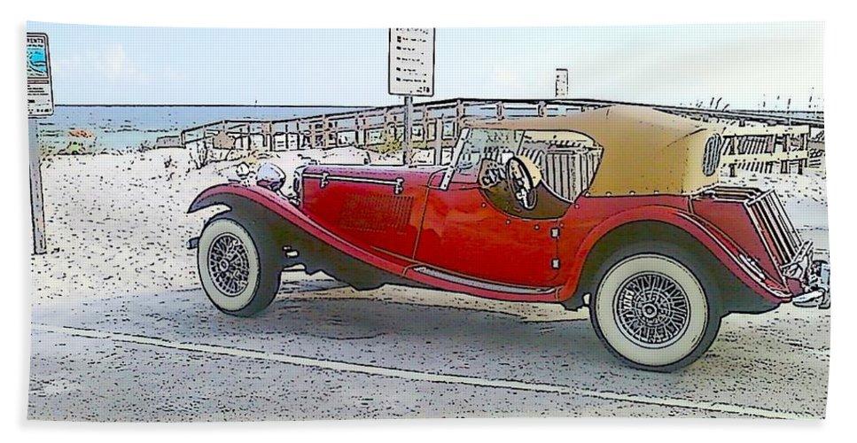 Cartoon Bath Sheet featuring the photograph Cartoon Car by Michelle Powell