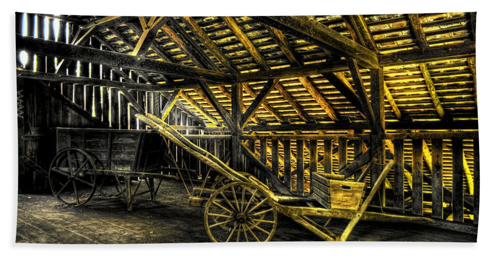 Farm Bath Sheet featuring the photograph Carts Before The Horse by Scott Wyatt