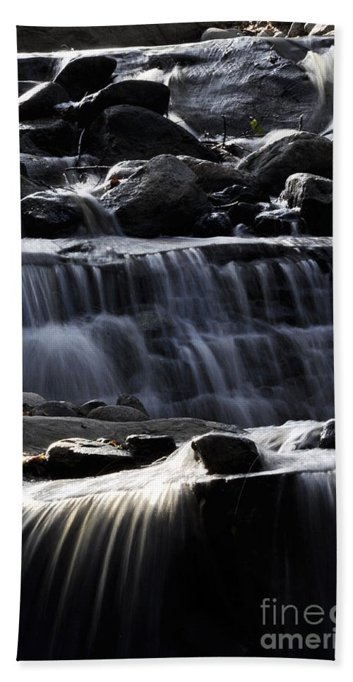 Clay Hand Towel featuring the photograph Cascading Falls by Clayton Bruster