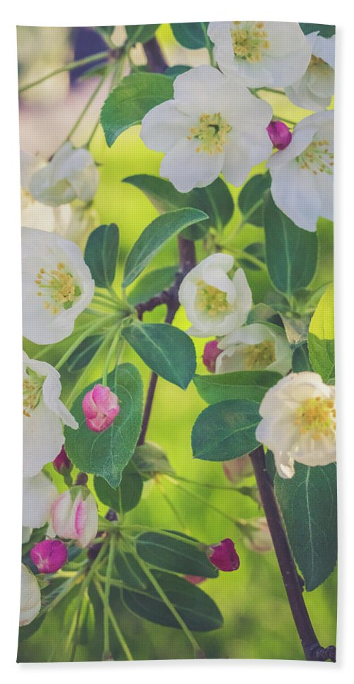 Cascade Hand Towel featuring the photograph Cascading Flowers by Debbie Gracy