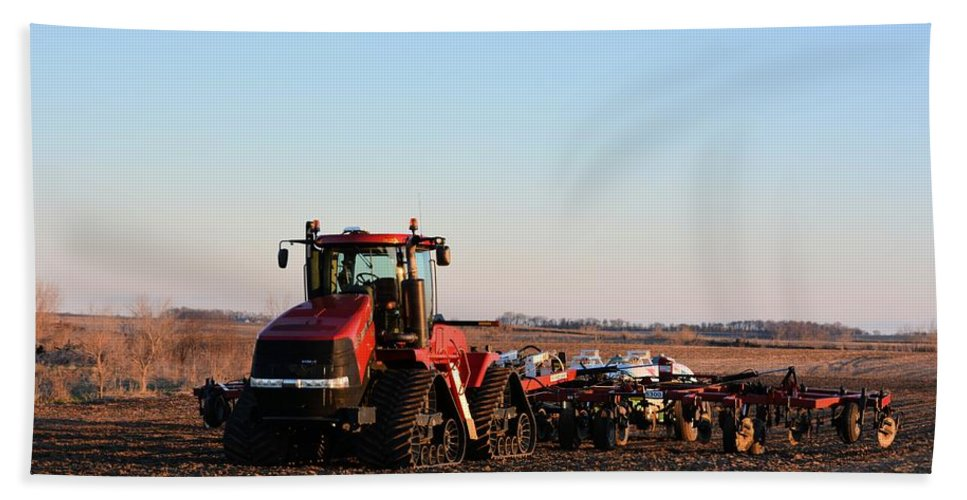 Case Hand Towel featuring the photograph Case Ih Power by Bonfire Photography