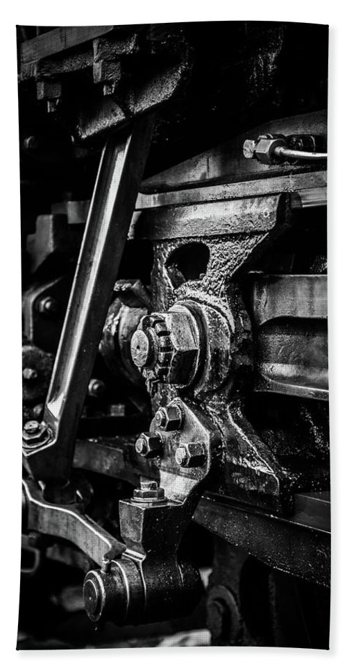 Ivatt Bath Sheet featuring the photograph Detailed Grease by Richard McVeigh