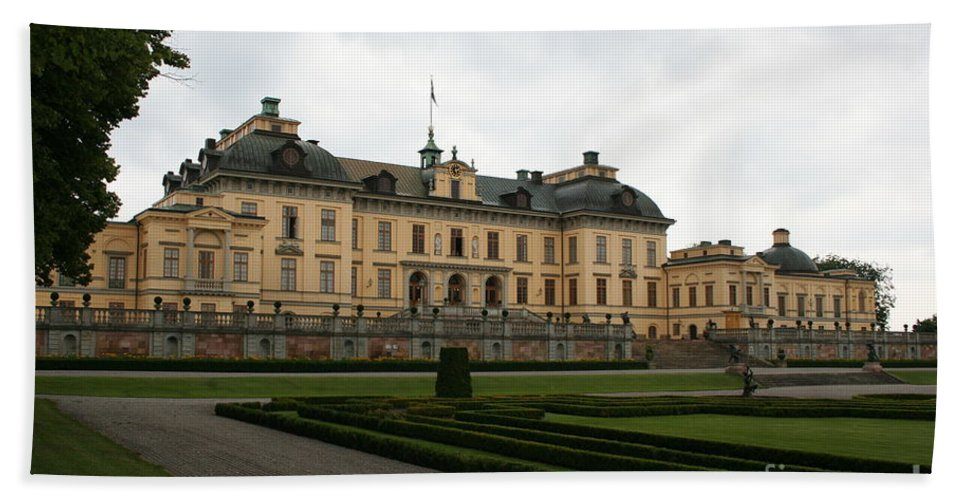 Castle Hand Towel featuring the photograph Castle Drottningholm by Christiane Schulze Art And Photography