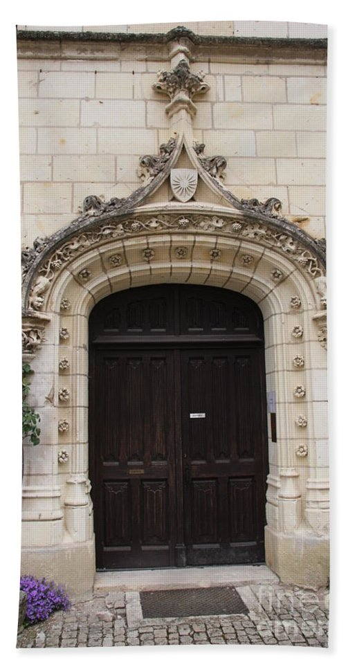 Door Bath Sheet featuring the photograph Castle Entrance Door by Christiane Schulze Art And Photography