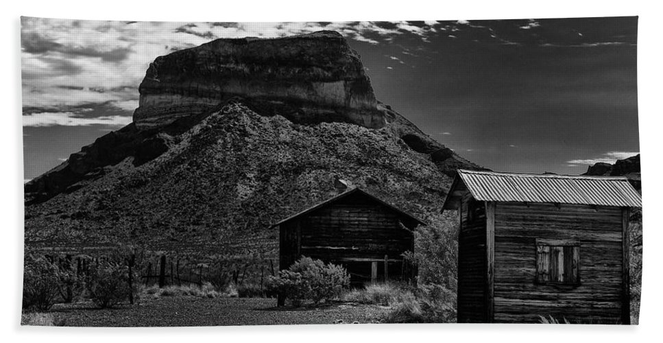 Castolon Bath Sheet featuring the photograph Castolon Ghost Town by Renee Hong