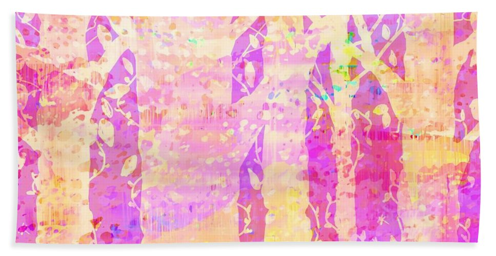 Abstract Hand Towel featuring the digital art Cat And Mouse by Rachel Christine Nowicki