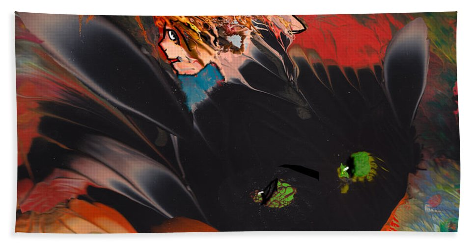 Animals Bath Sheet featuring the painting Catalisa by Miki De Goodaboom