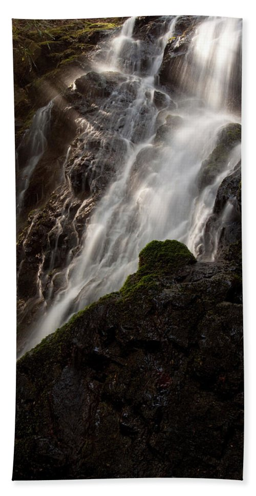 Great Smoky Mountains Hand Towel featuring the photograph Cataract Falls by Matthew Kirsch