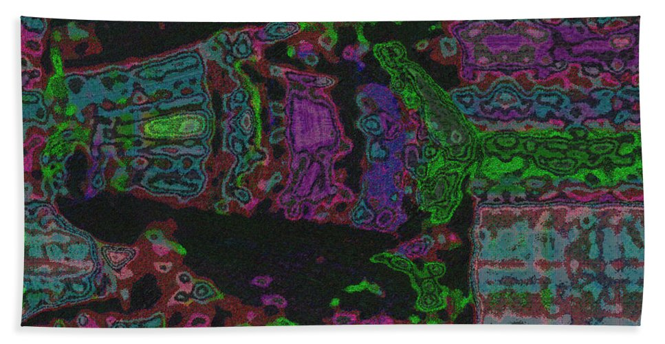 Design Bath Sheet featuring the mixed media Catch by Mando Xocco