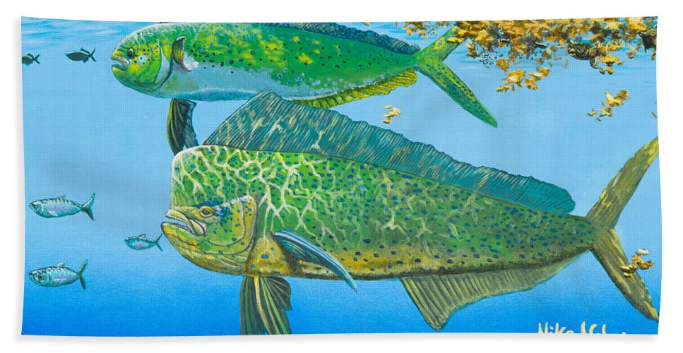 Ocean Hand Towel featuring the painting Catch Of The Day by Mike Nolan