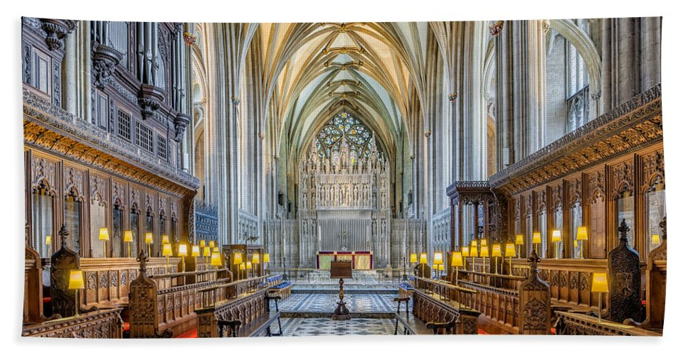 British Bath Sheet featuring the photograph Cathedral Aisle by Adrian Evans