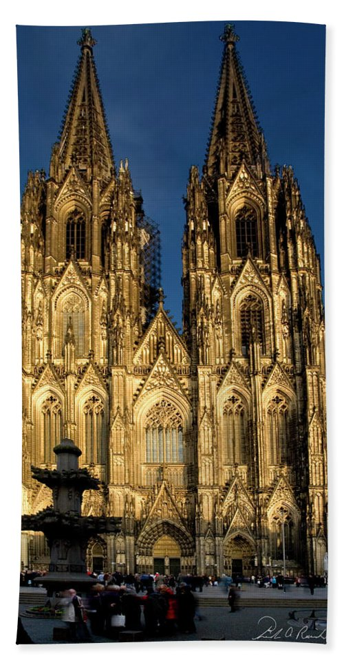Photography Hand Towel featuring the photograph Cathedral In Cologne by Frederic A Reinecke