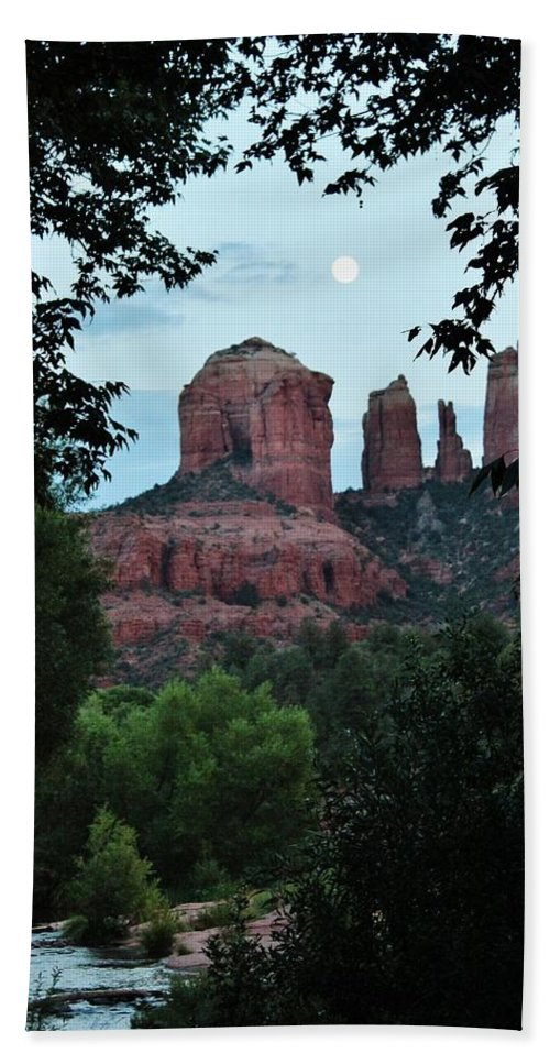Cathedral Rock Bath Sheet featuring the photograph Cathedral Rock Rrc 081913 Aa by Edward Dobosh