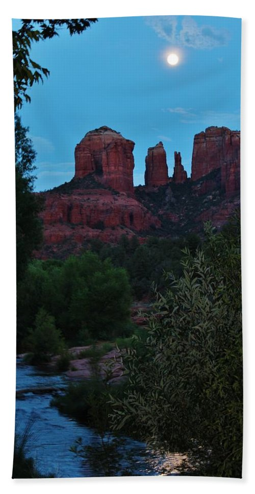 Cathedral Rock Bath Sheet featuring the photograph Cathedral Rock Rrc 081913 Ae by Edward Dobosh