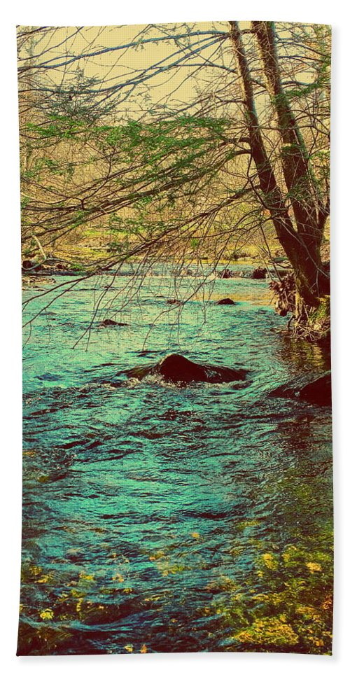 Big Hunting Creek Hand Towel featuring the photograph Catoctin Spring by Paul Kercher