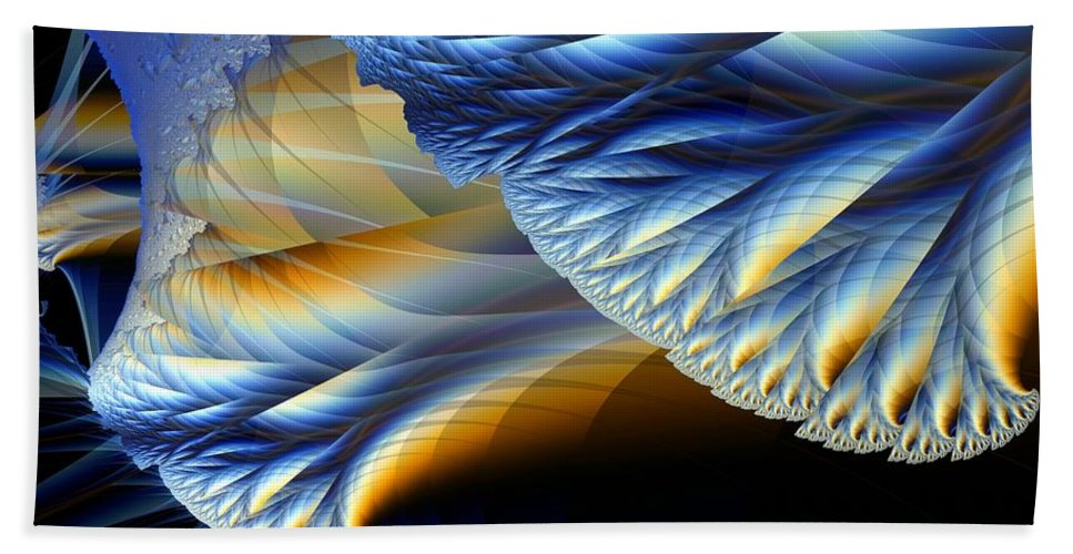 Fractal Image Bath Towel featuring the digital art Cauliflower From Other Dimensions by Ron Bissett
