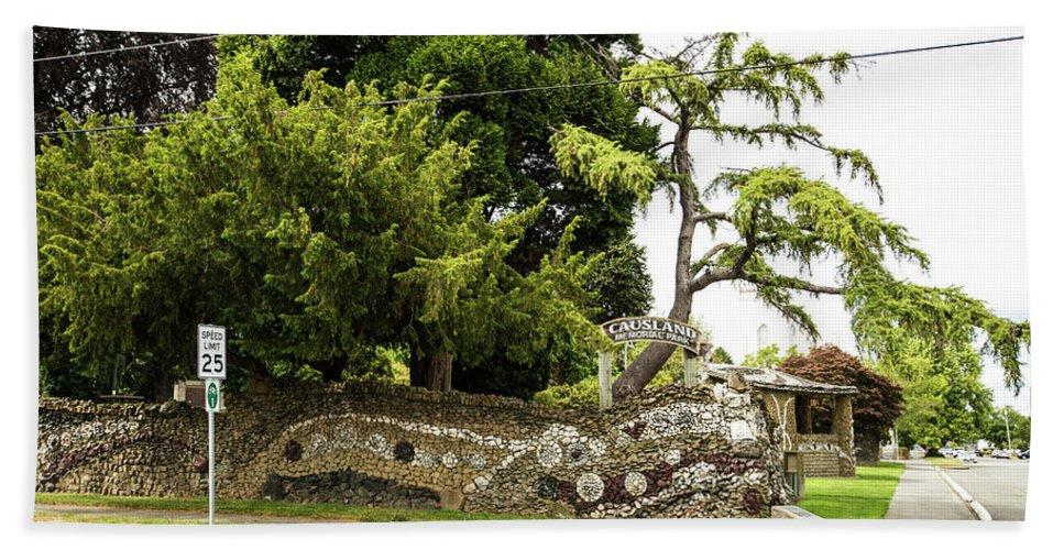 Causland Memorial Park Bath Sheet featuring the photograph Causland Memorial Park In Anacortes by Tom Cochran