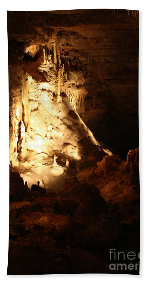 Natural Bath Sheet featuring the photograph Cave 12 by Lynn Michelle