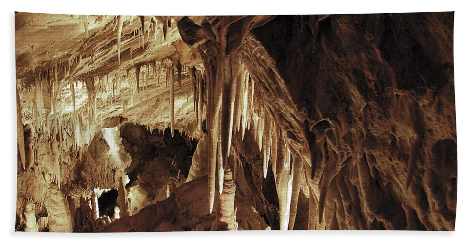 Cave Bath Sheet featuring the photograph Cave Interior by Marilyn Hunt