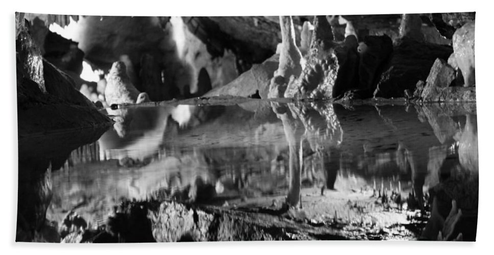 Cave Hand Towel featuring the photograph Cave Reflection 2 by Lauri Novak