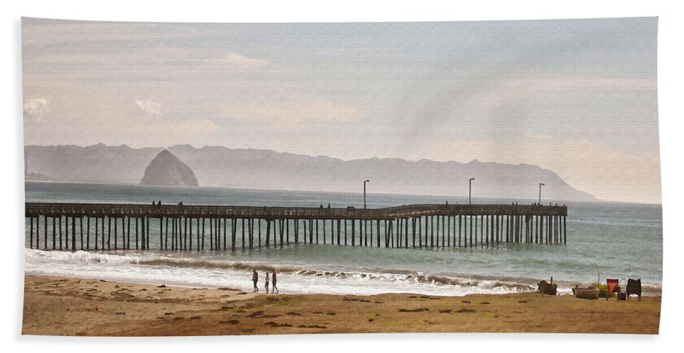 Pier Hand Towel featuring the digital art Caycous Pier II by Sharon Foster