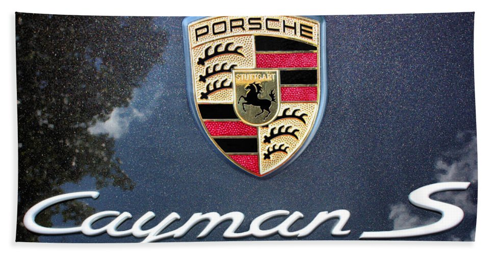 Porsche Bath Sheet featuring the photograph Cayman S by Kristin Elmquist