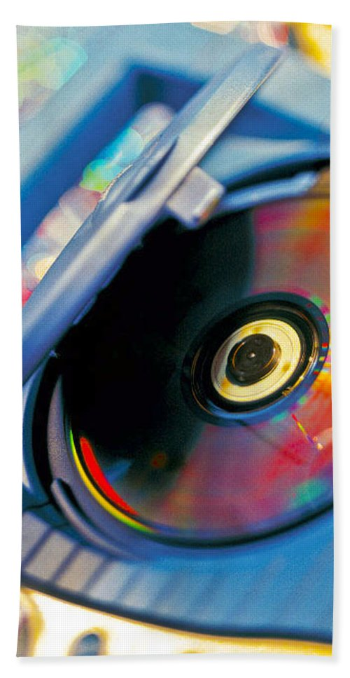 Cd Hand Towel featuring the photograph Cd Player by Robert Ponzoni