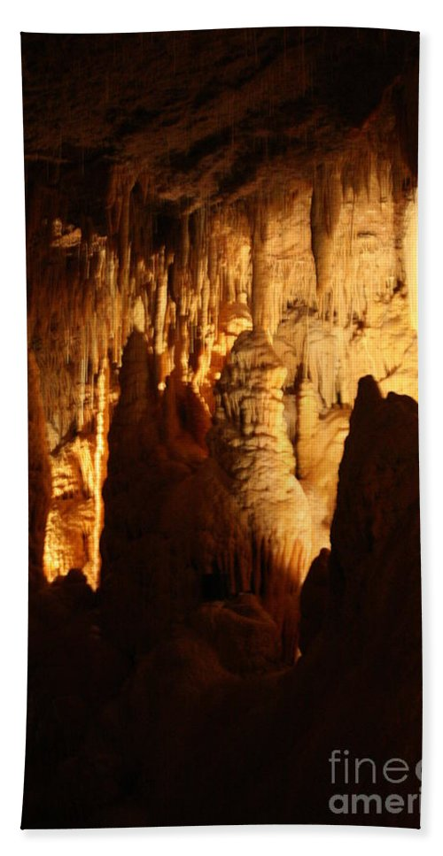 Natural Bath Sheet featuring the photograph Ceiling Formations - Cave by Lynn Michelle