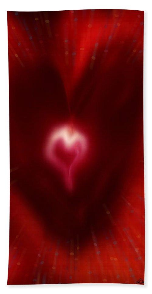 Hearts Bath Towel featuring the digital art Celebrate Love by Linda Sannuti