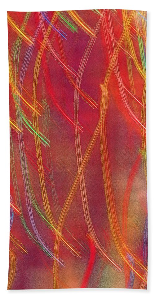 Abstract Bath Sheet featuring the photograph Celebration by Gaby Swanson