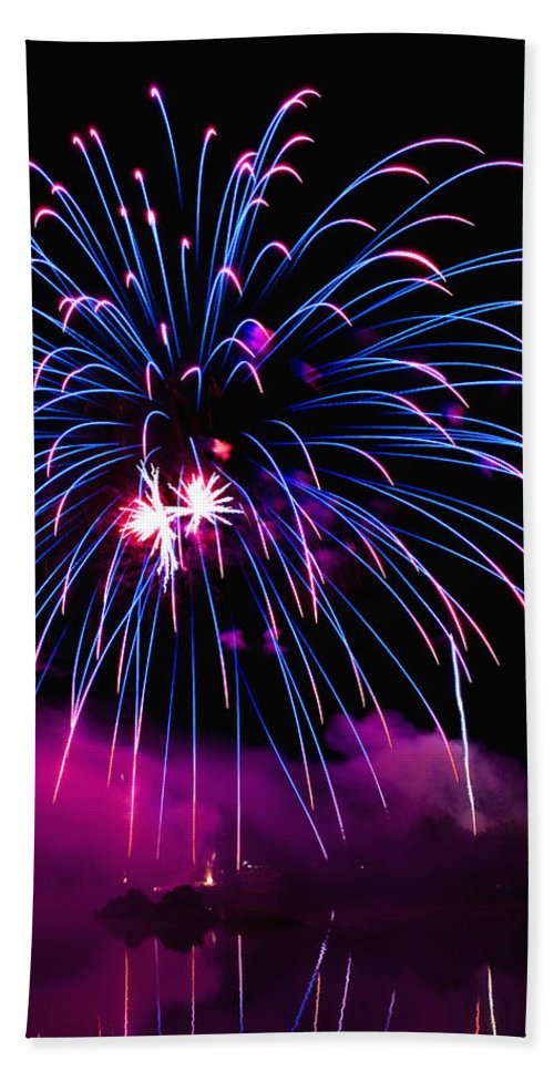 Fireworks Hand Towel featuring the photograph Celebration IIi by Greg Fortier