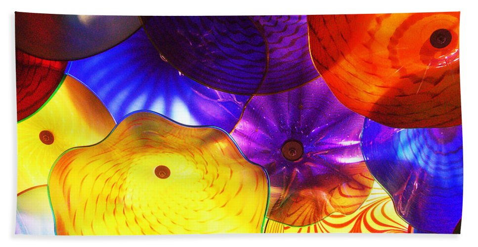 Glass Hand Towel featuring the photograph Celestial Glass 3 by Xueling Zou