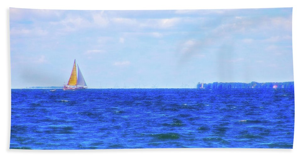 Sail Bath Sheet featuring the photograph Celestial Skies Sailing The Blue by Aimee L Maher ALM GALLERY