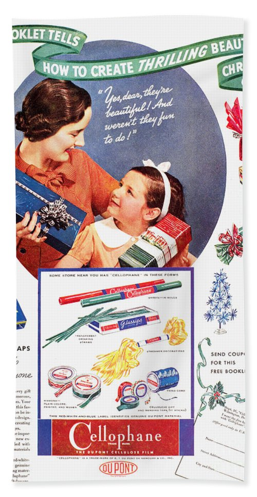 1937 Hand Towel featuring the photograph Cellophane, 1937 by Granger